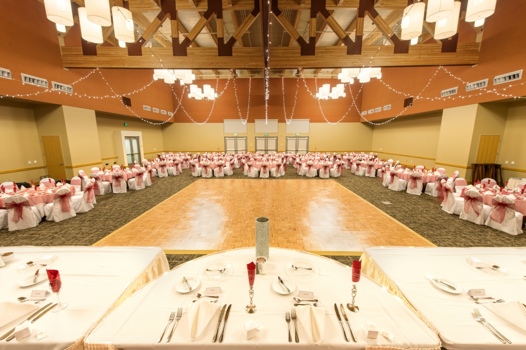 Ballroom setup - Large Dance Floor - View from Brides Table
