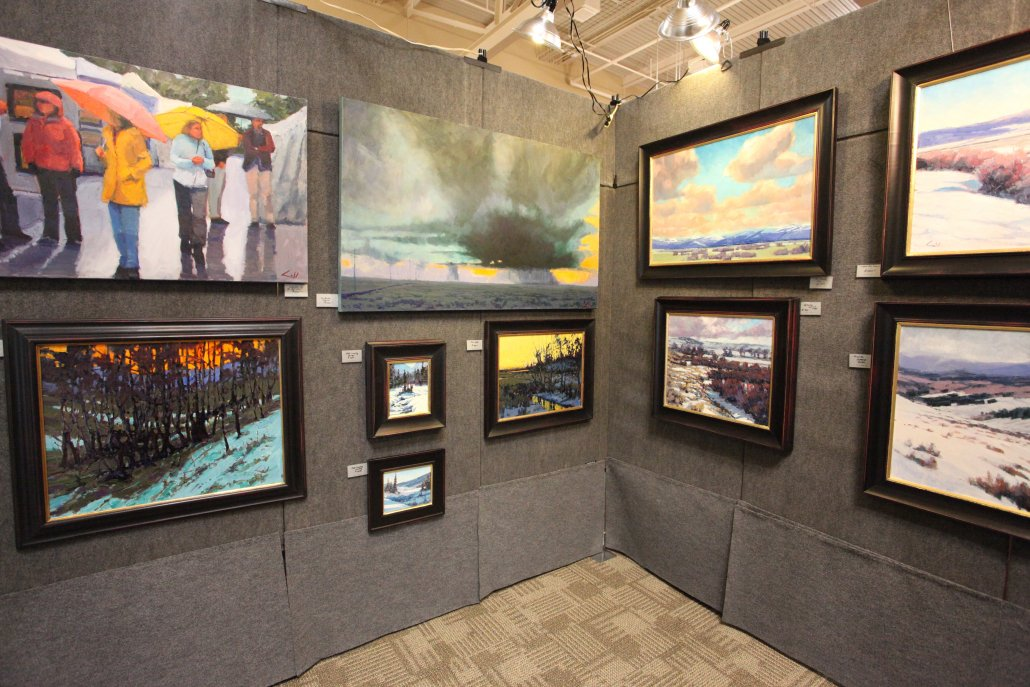 Art on Display - Oil paintings displayed at Art Exhibit