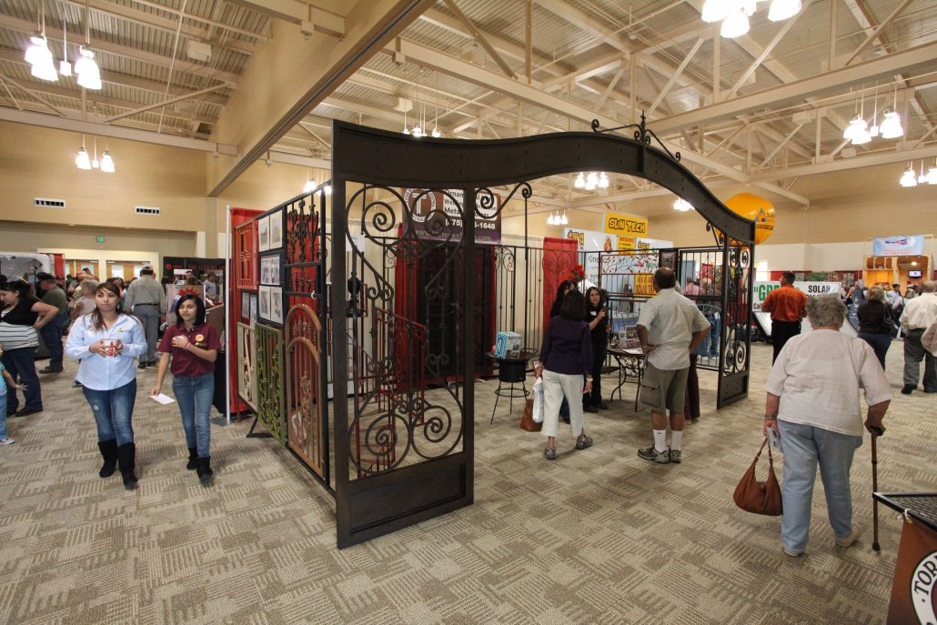 People Walking Around Exhibit Hall - Home and Garden Expo at Convention Center
